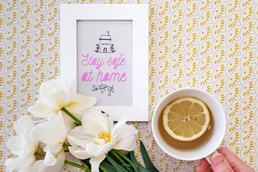 Illustration DIY Stay Safe at Home avec CRICUT JOY