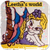 Leetha s world logo