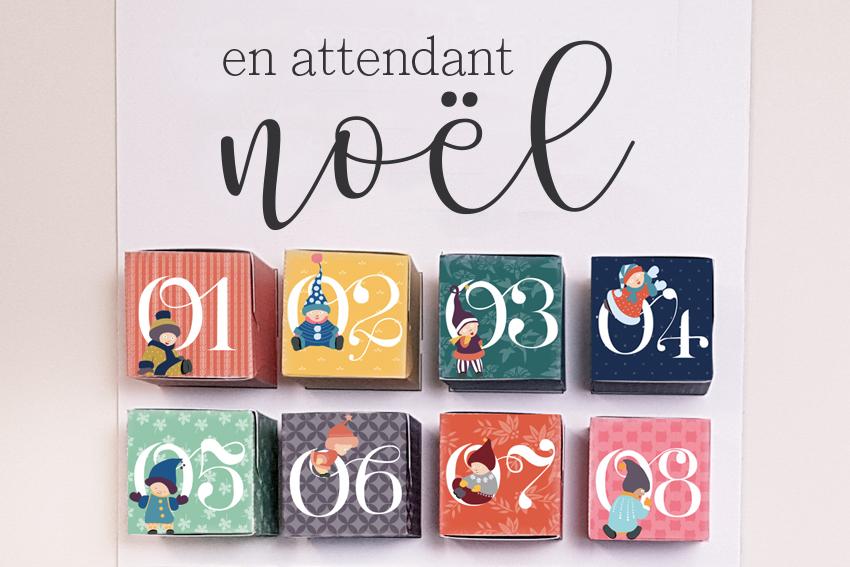 Boite Calendrier De Lavent.Calendrier De L Avent Etiquettes Cadeau A Imprimer Les